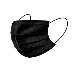 Mascarillas quirúrgicas de 3 capas negro ( 10 unidades)