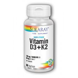 Solaray Vitamin D-3 & K-2