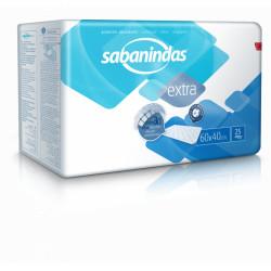 Sabanindas protector absorbente 60 x 40 cm 25 unidades